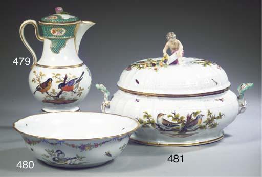 A Meissen porcelain circular t