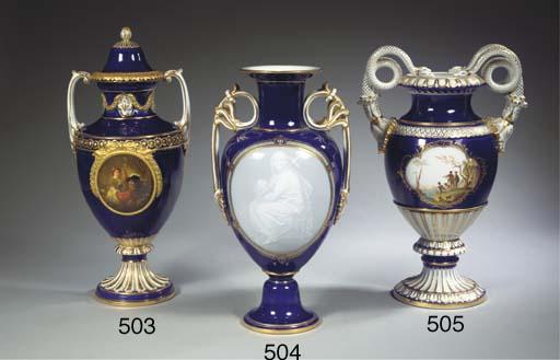 A Meissen porcelain dark blue-