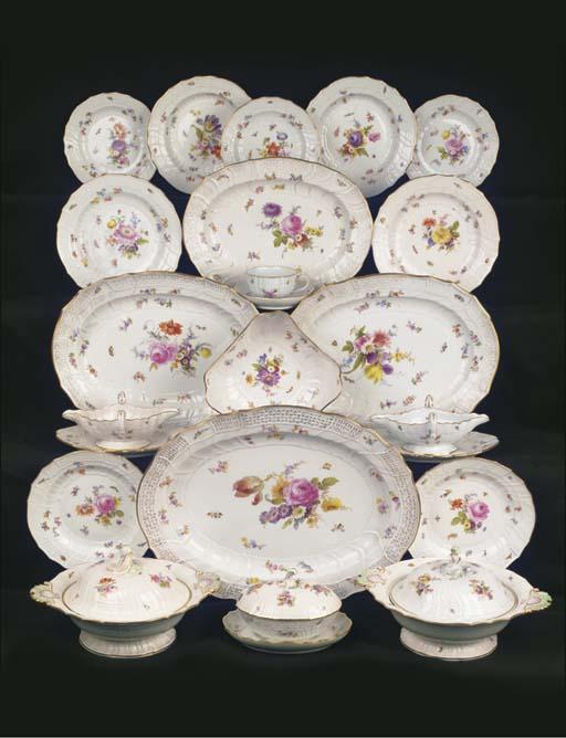 (57)  A Meissen porcelain flor
