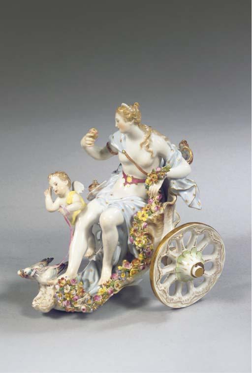 A Meissen porcelain Venus and