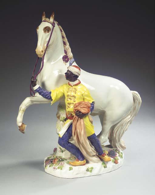A large Meissen porcelain grou