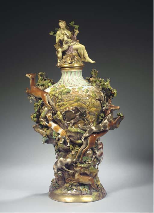 A large Meissen porcelain balu