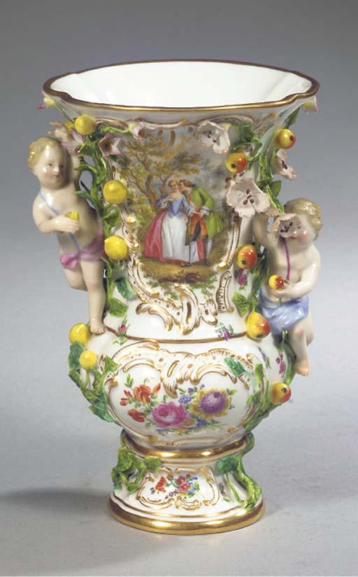 A Meissen porcelain flower- an