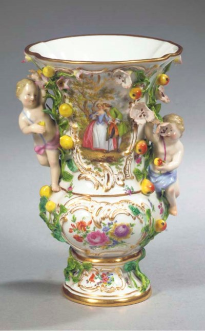 A Meissen porcelain flower- an