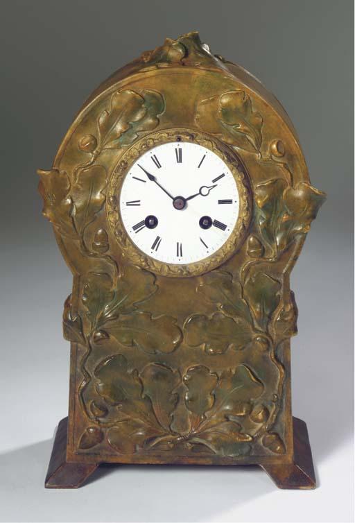 A plaster mantle clock