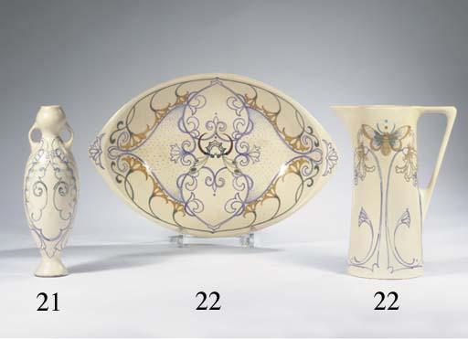 (2) A glazed pottery jug