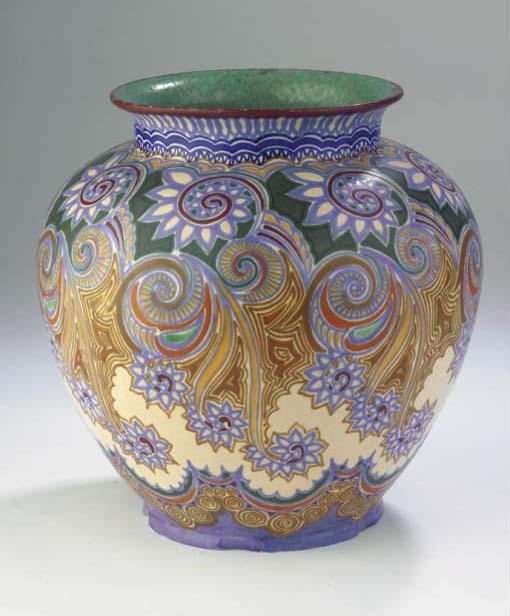 Reeks, a glazed pottery vase