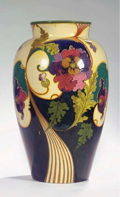 A large glazed pottery vase