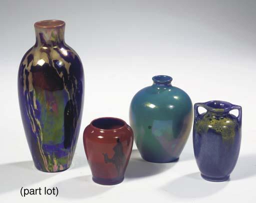 (5) A lustre glazed pottery va