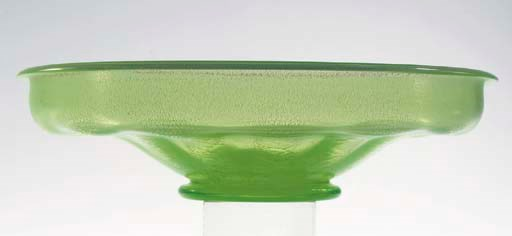 Serica 3, a green glass bowl