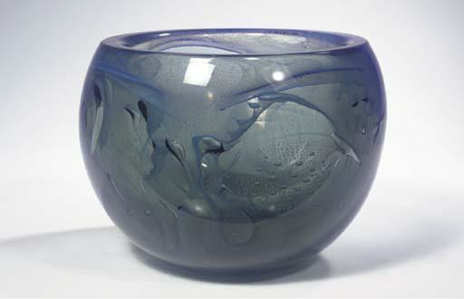 An Unica glass bowl