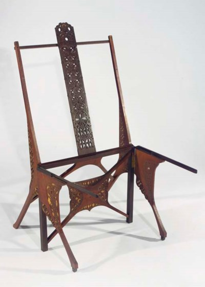 A partly gilt rosewood and oak