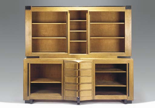 A partly ebonised oak bookcase