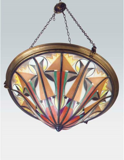 A stained and leaded glass cei