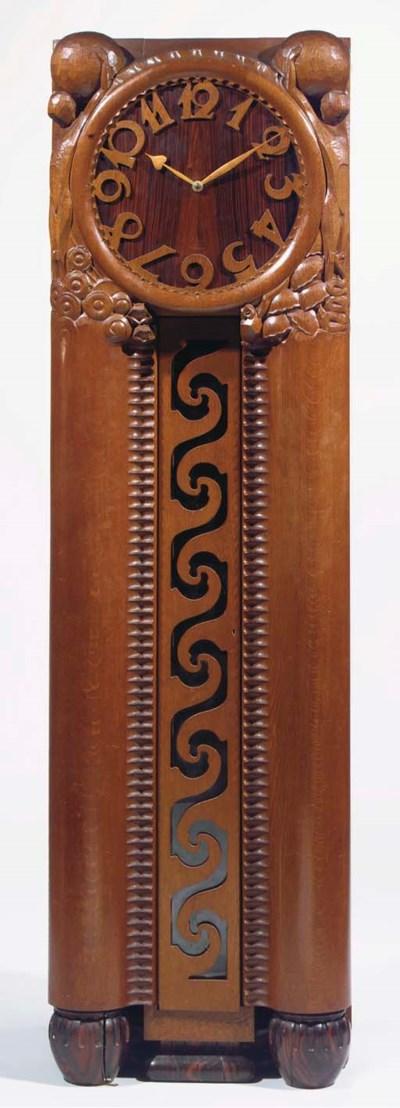 An oak and coromandel longcase