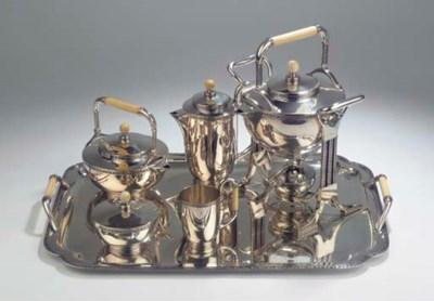 A six-piece silver tea and cof