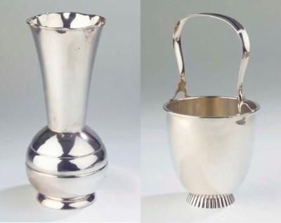 (2)  A German silver vase
