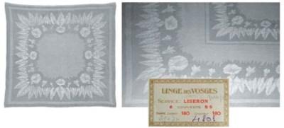 A set of six damask linen napk