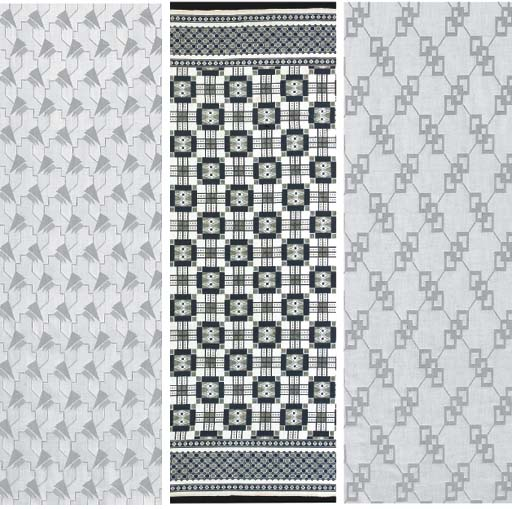 (3)  A cotton-wool damask length of cloth