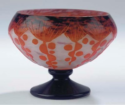 A cameo glass tazza