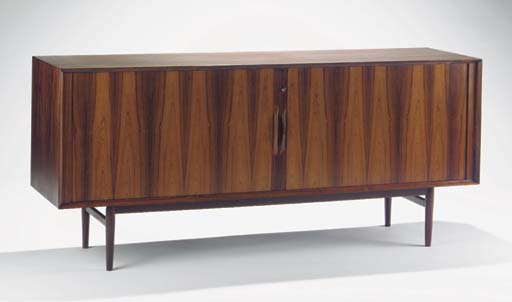 A rosewood sideboard