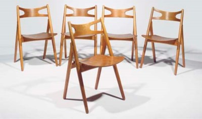 CH29, a set of five chairs