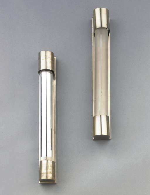 A pair of nickel plated metal