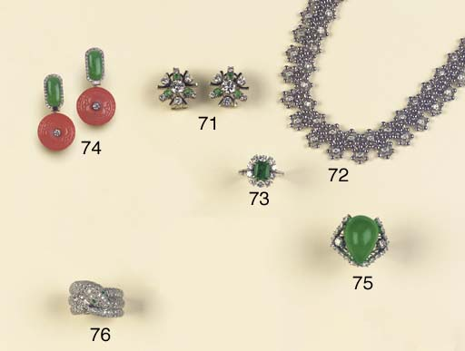 (4) THREE PIECES OF DIAMOND AN