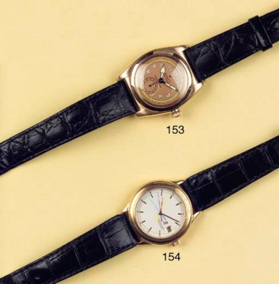 A 14K PINK GOLD AUTOMATIC WATE