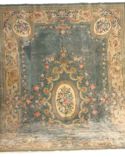 A CHINESE CARPET OF SAVONNERIE