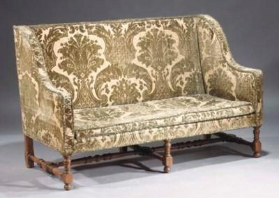 A Dutch walnut sofa
