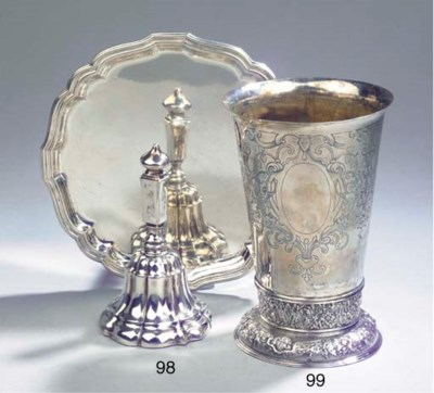 A Dutch silver table-bell and