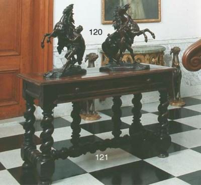 A Iberian walnut side table