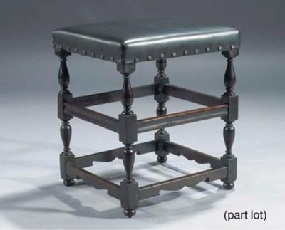 (2)  A Dutch walnut stool