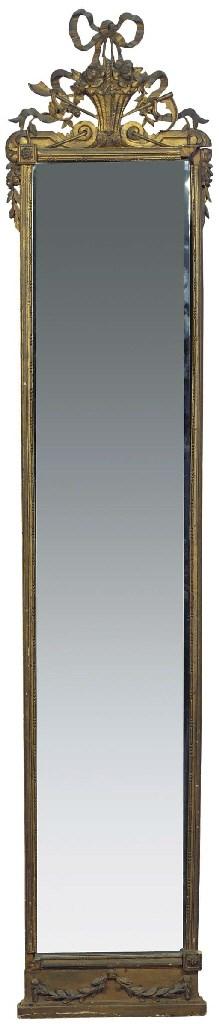 (2)  A Dutch giltwood mirror