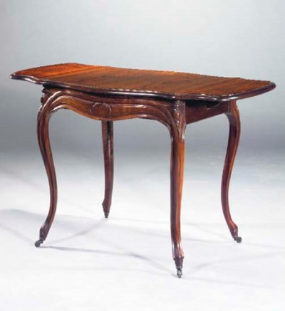 A French rosewood pembroke tab