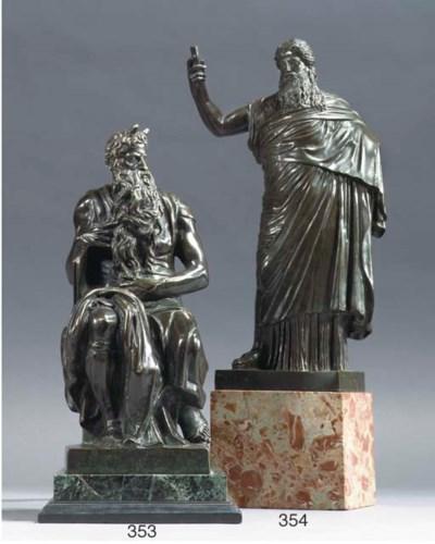 A BRONZE FIGURE OF A GREEK DEI
