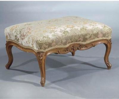A Louis XV beechwood stool