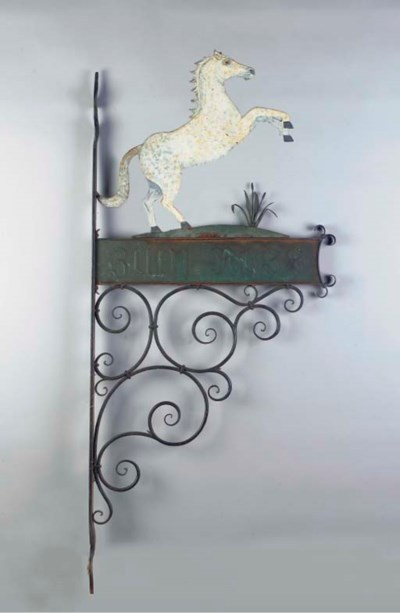 A German painted wrought iron