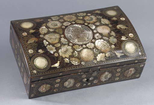 A FLEMISH MOTHER-OF-PEARL AND