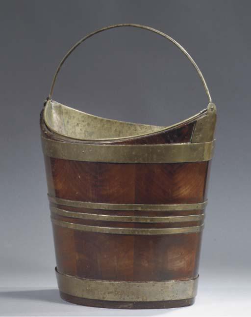 A Dutch brass mounted mahogany