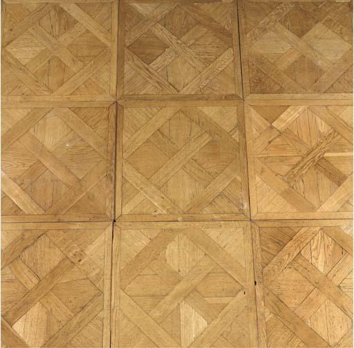 An Austrian oak parquet floor