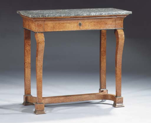 A French amboyna console table