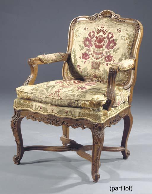 A set of six Louis XV pronvinc