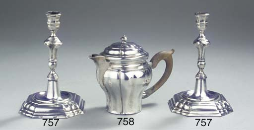 A small Austrian silver teapot