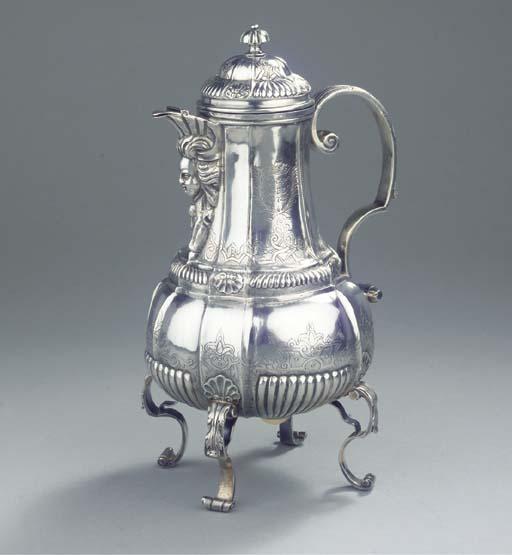An early Austrian silver coffe