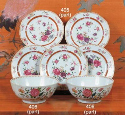 (10) A set of nine Chinese fam