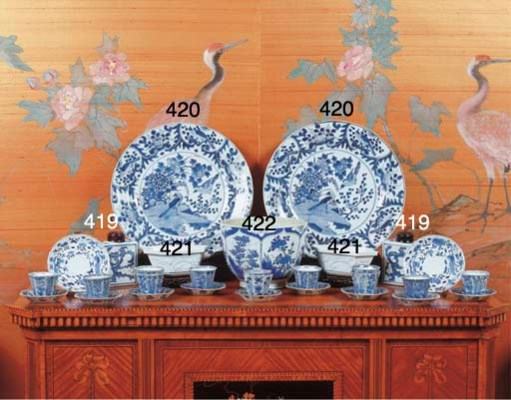 (2)  A pair of Chinese blue an