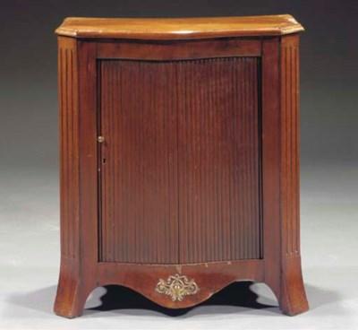 A Dutch mahogany bow front sid