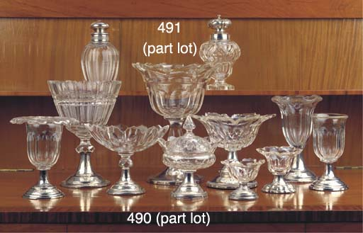 (11) Eleven various cut-glass
